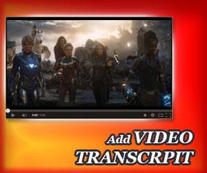Add Video Transcript