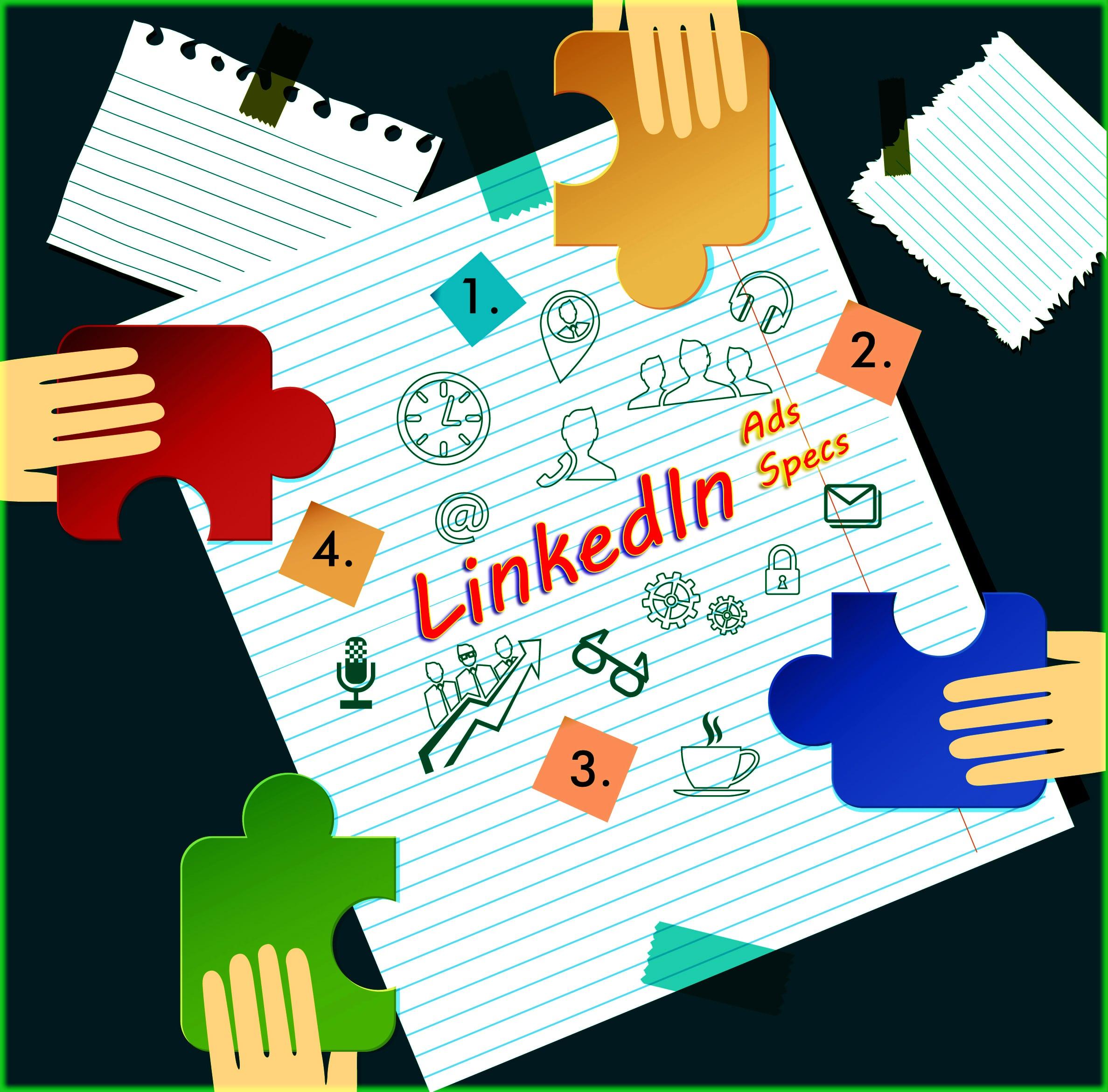 LinkedIn Ads Specs Infographic